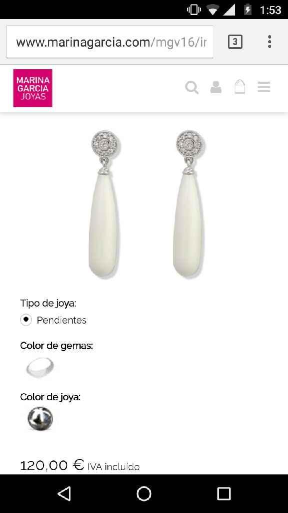 Pendientes lágrima o piedra blanca - 1