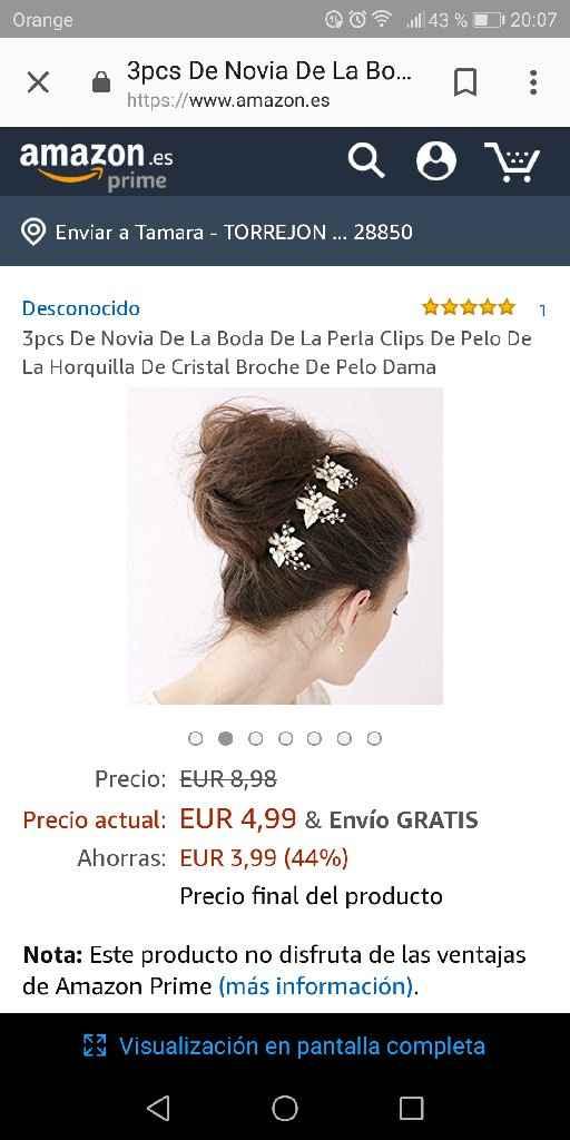 Adorno de pelo novia - 2