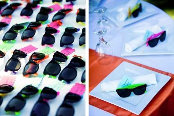Gafas de colores para el baile