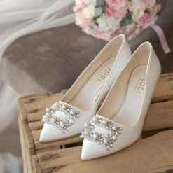 Que os parece estos zapatos de novia? Tienen 6,5 cms de altura