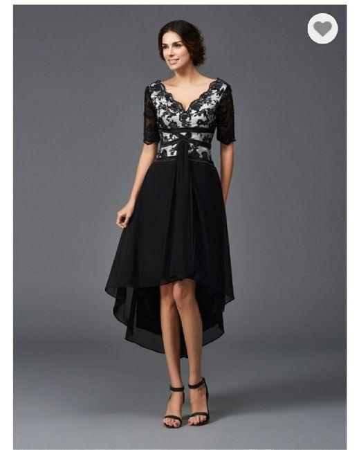 Vestido de novia con toques negros en Valladolid - 1