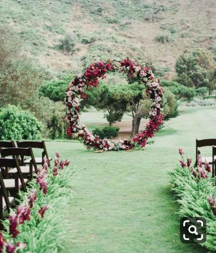 Altar circular floral - 2