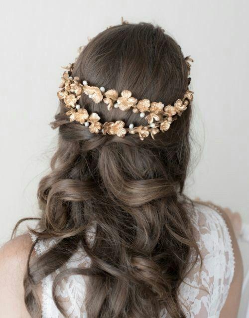 Peinados de novias pelo suelto