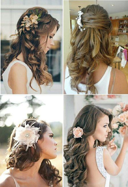 Peinados de novia cabello semirecogido