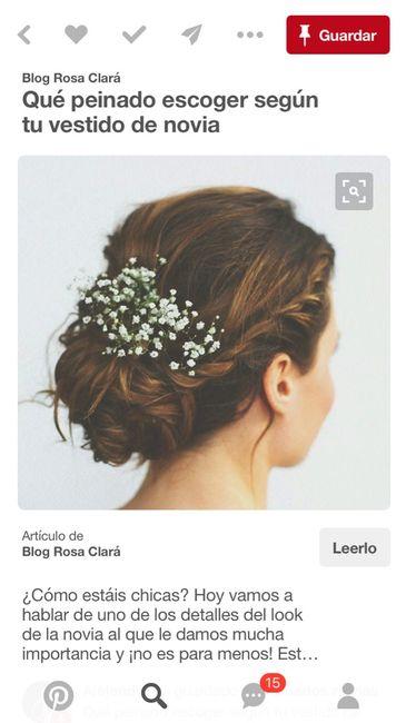 Flores naturales en el pelo - 1