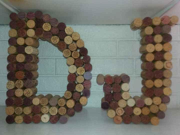 Letras de corcho de botella de vino - 1