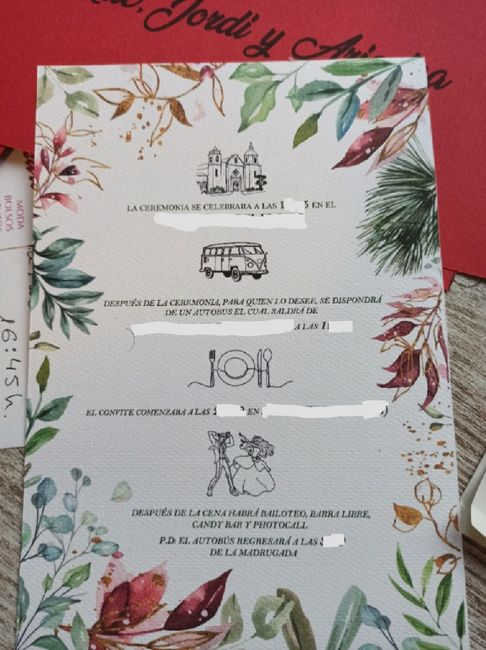 Invitación de boda - 1