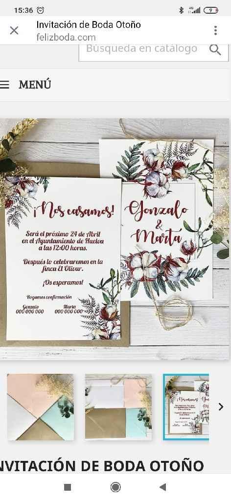 Invitaciones de boda 😱 - 1