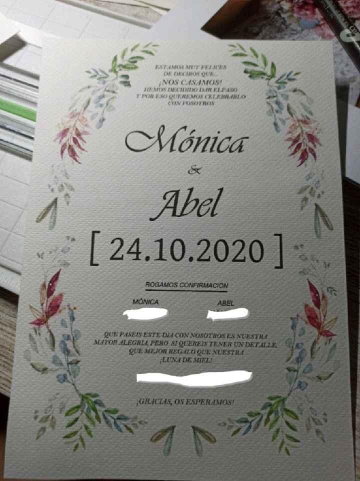 Invitacion de boda - 1