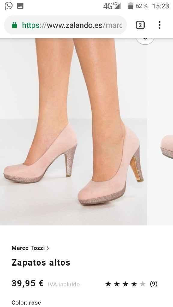 Sandalias color nude - 1