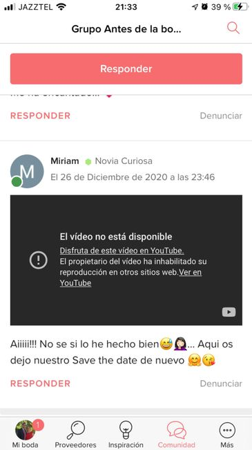 Save the date, formato vídeo 1