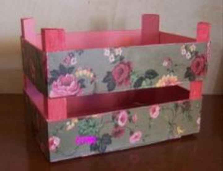caja de fruta decorada