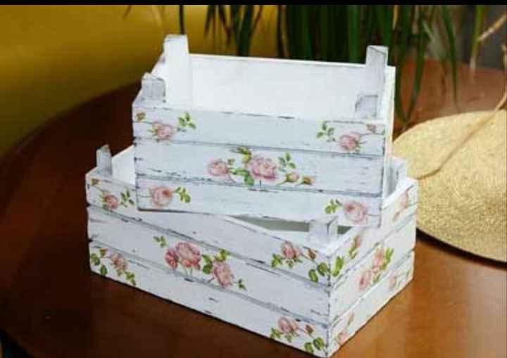 cajas de fruta decorada