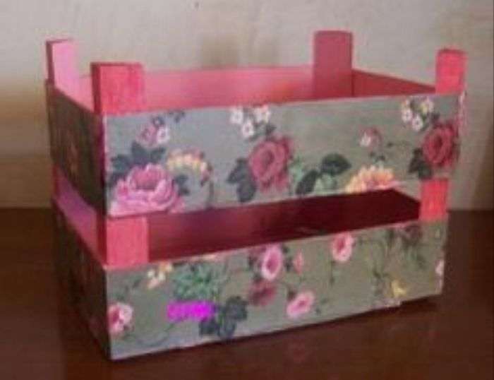 Cajas de frutas decoradas manualidades foro - Como decorar cajas de madera paso a paso ...