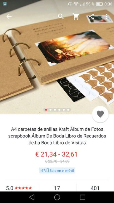 Libro de firmas para fotos polaroid - 1