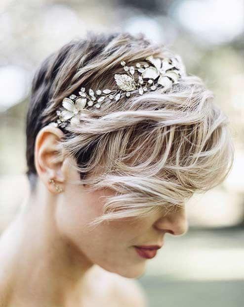 22 peinados para novias 'pixie' 1