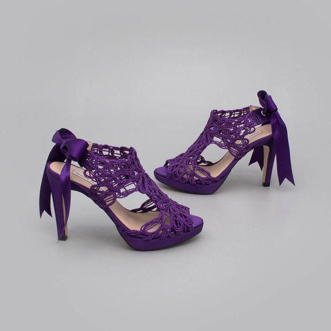 Zapatos de novia morados !!! 1