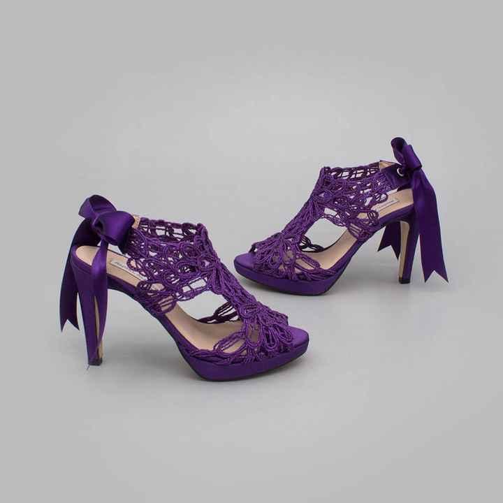 Zapatos de novia morados !!! - 1