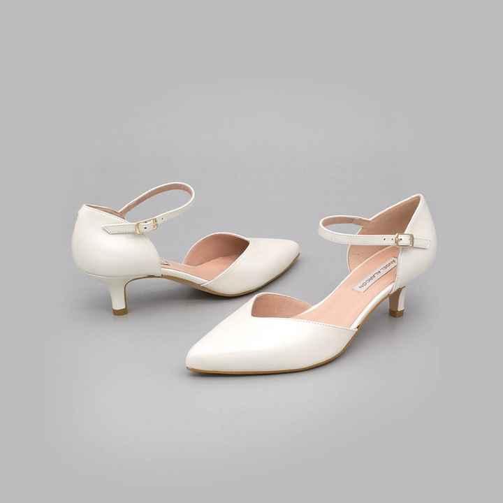 Zapatos novia talla 35 - tacón bajo/medio - 1