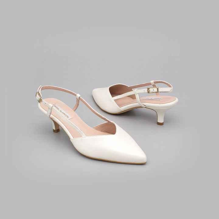 Zapatos novia talla 35 - tacón bajo/medio - 3