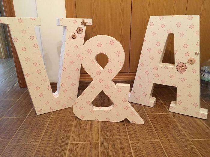 Semana productiva letras gigantes arroz de colores y for Letras gigantes para bodas baratas