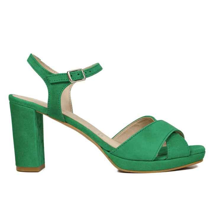 Zapatos de color verde - 1