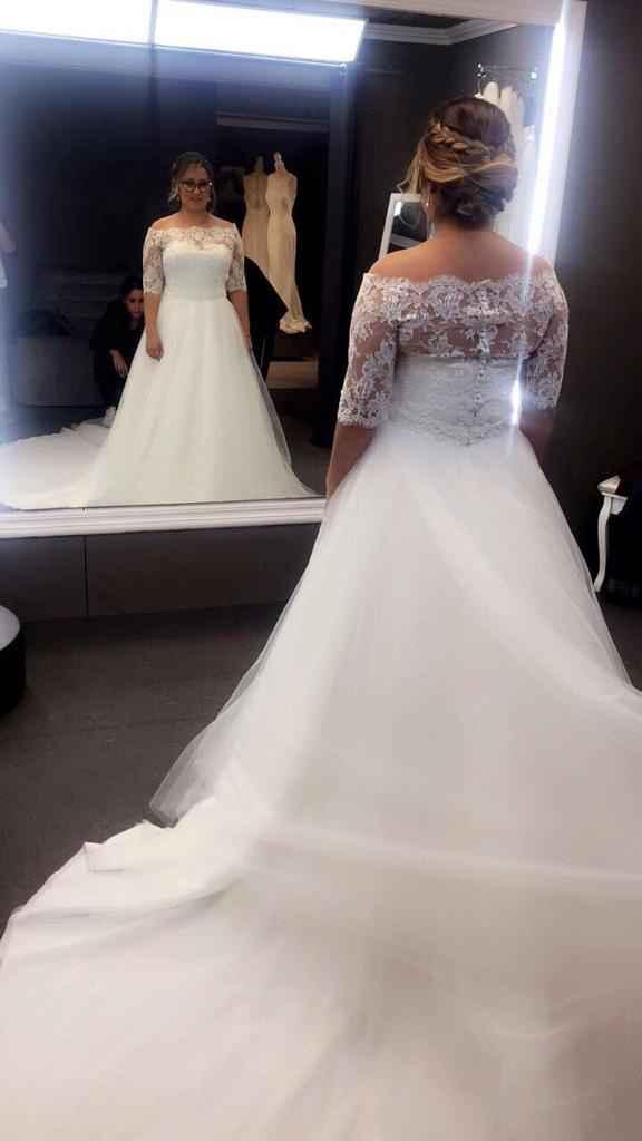 Sobrefalda vestido de novia - 1