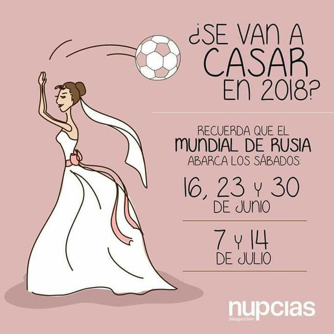 Mundial 2018! coincide tu fecha? ‼ ‼ - Organizar una boda - Foro ...