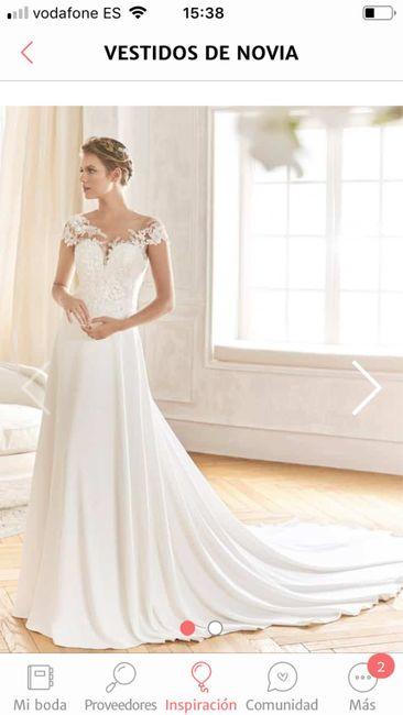 Color de vestido de novia blanco, rosa palo, color champán - 1