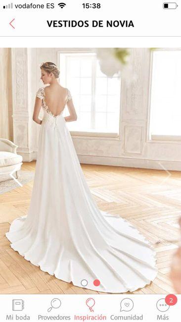 Color de vestido de novia blanco, rosa palo, color champán - 2