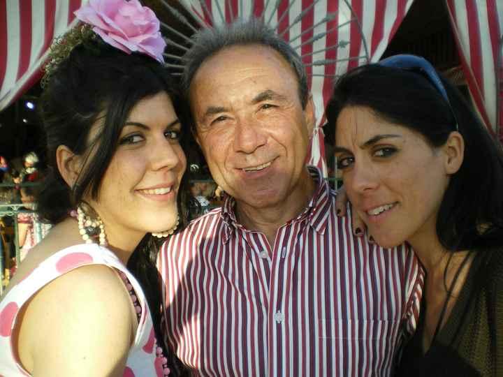 mi hermanita, mi padrino y yo