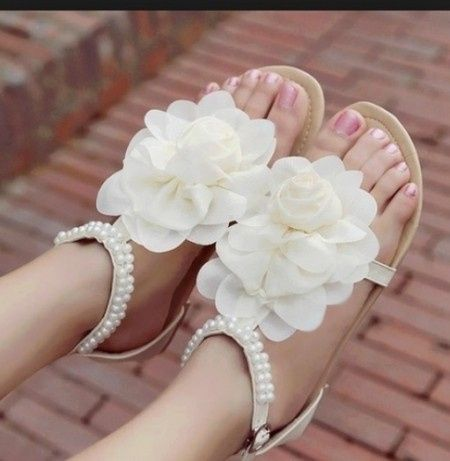 Sandalias flores