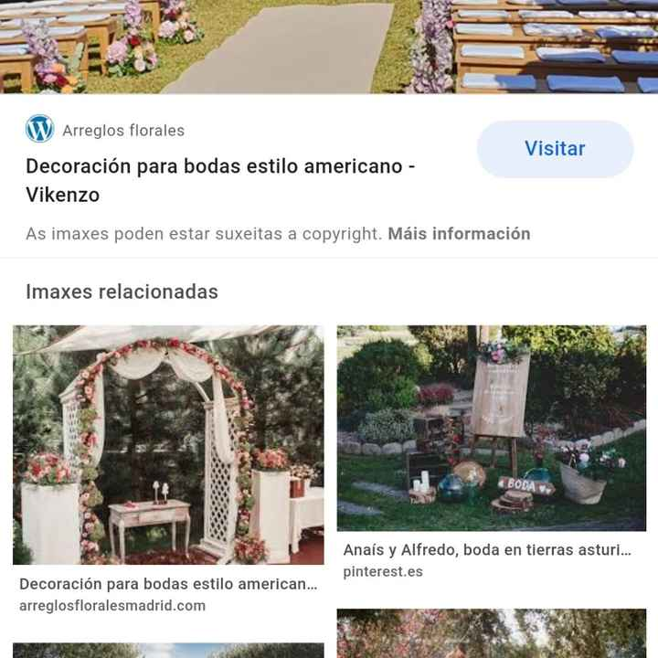 Necesito asesoramento de sitios de Galicia  para boda estilo americana - 2