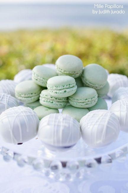 Bodas en color blanco y verde 26