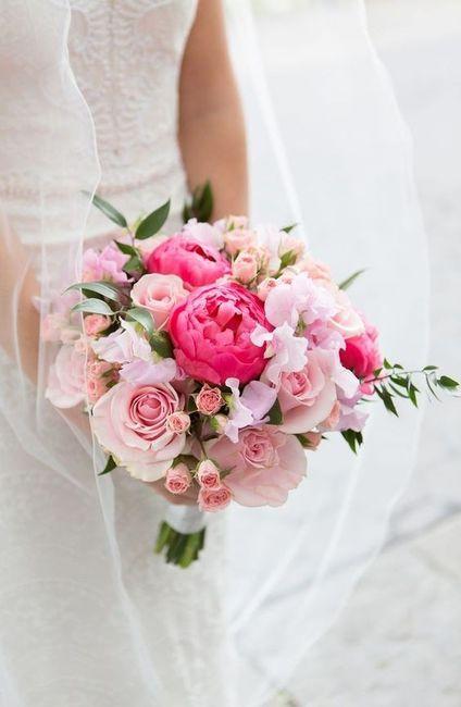 ¿Llevarías este ramo rosa? 1