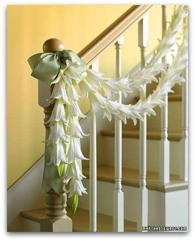 decorar escalera para la boda