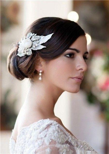 Chignon haut bas ou de c t 25 coiffures de mari e pour tous les styles beaut forum - Chignon bas cote ...