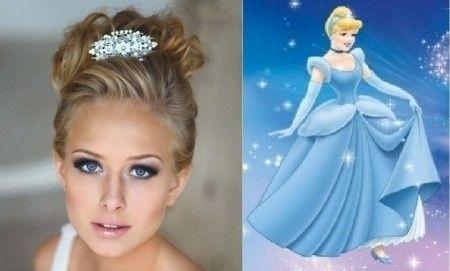 Peinados de novia princesas Disney
