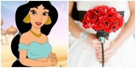 Ramos de novia inspirados en princesas Disney