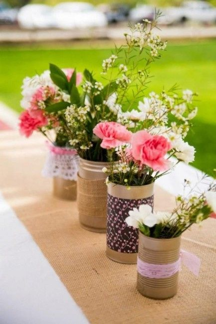Ideas para decorar tu boda con latas organizar una boda - Decorar tu boda ...