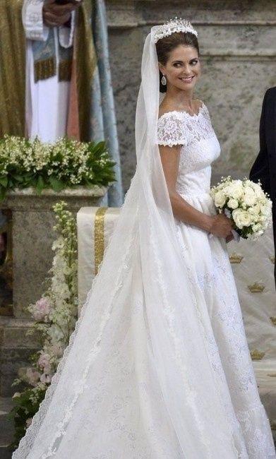 Vestidos de boda de las princesas reales