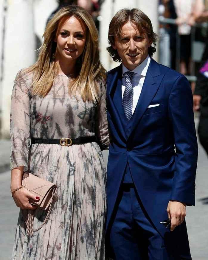Luka Modric y mujer