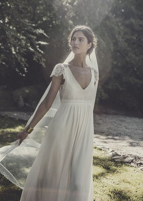 look de novia del día: vestido de laure de sagazan