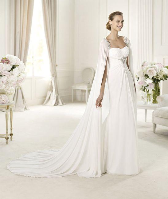 Imagenes de vestidos de novia con capa