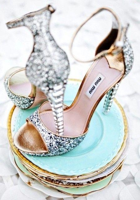 5 zapatos plateados para tu look de novia! - moda nupcial - foro