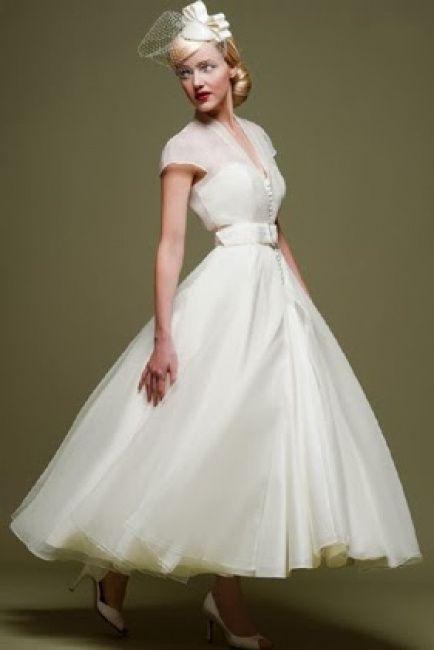 10 vestidos de novia estilo años 50: ¿cuál votas? - moda nupcial