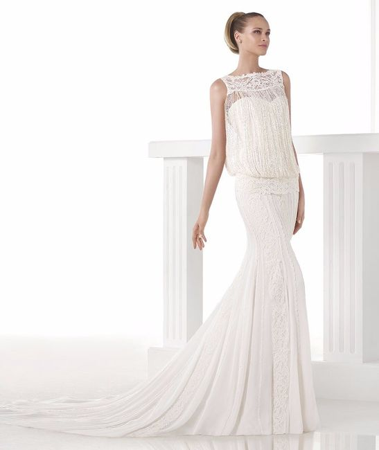Vestido novia pronovias flecos