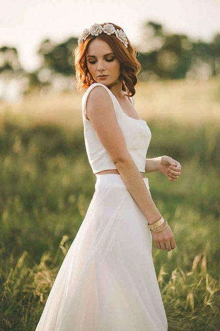 vestido de novia 2 piezas: ¿sÍ o no? - moda nupcial - foro bodas