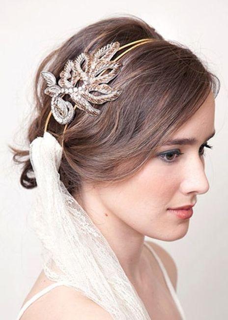 de peinado para novias de poco cabello