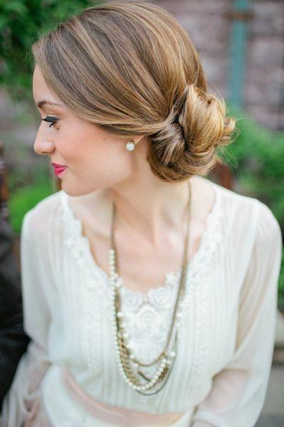 Peinados novia con poco pelo